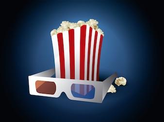 Popcorn achtergrond