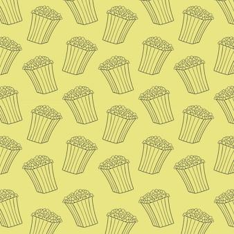 Popcorn hand tekening vector patroon achtergrond