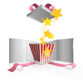 Popcorn in een cadeau