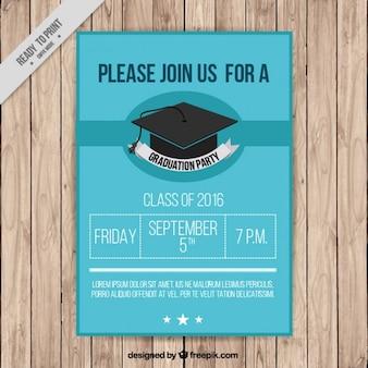 Poster van afstuderen partij