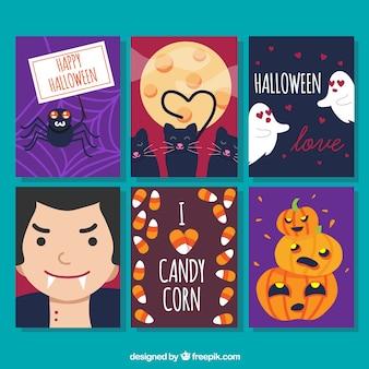 Prachtig pak Halloween kaartjes