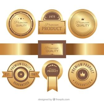 Premium gouden etiketpakket