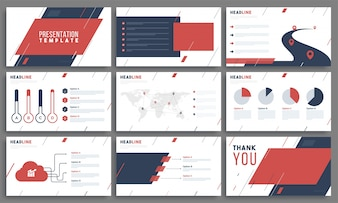 Presentatie Templates met infographic element.