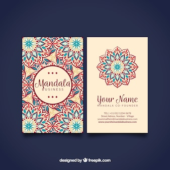 Pretty hand drawn mandala card