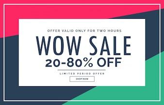 Promotionele verkoop banner design met schone stijl