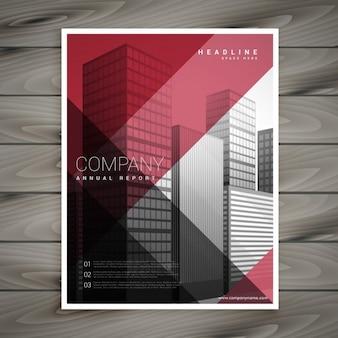 Promotionele zakelijke flyer template presentatie