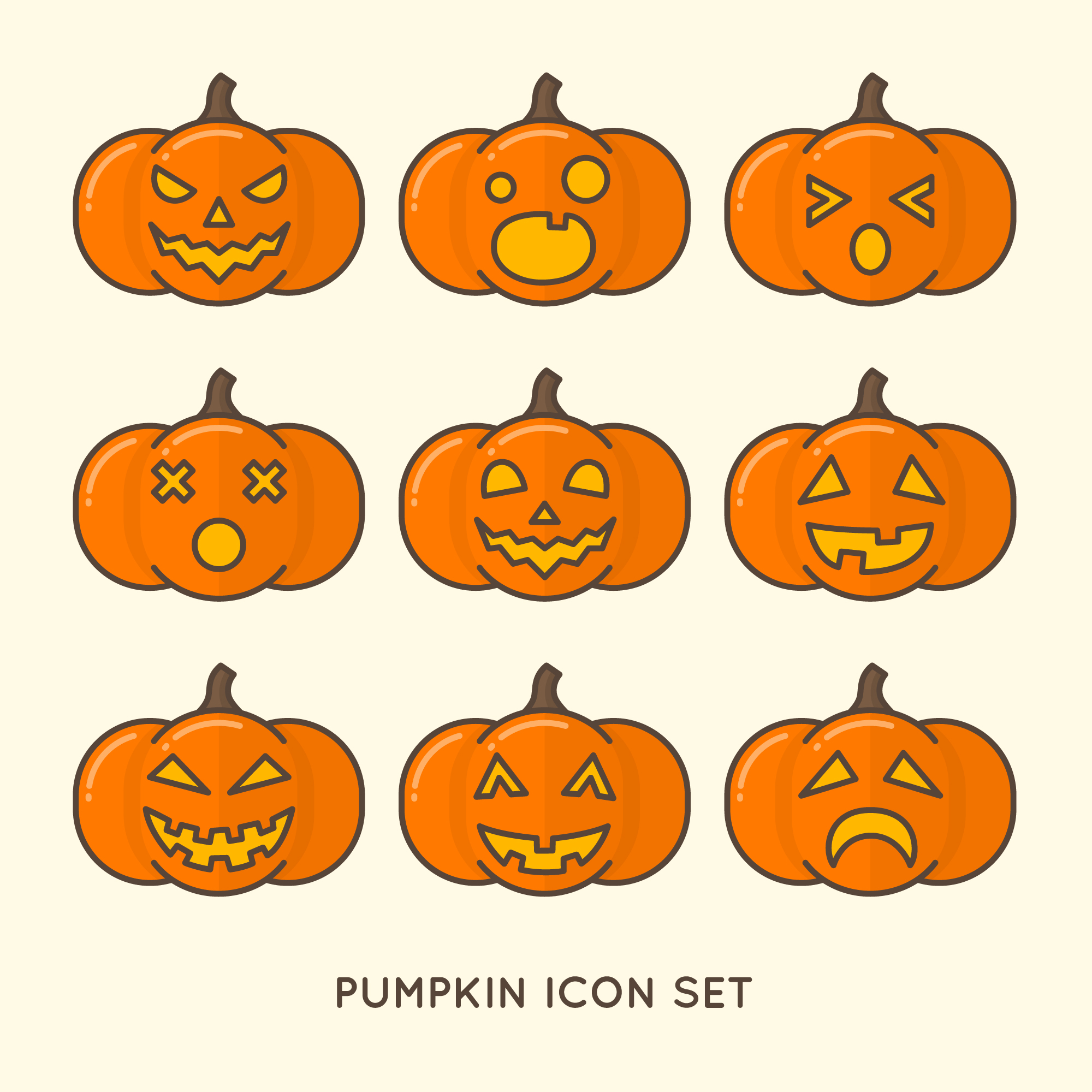 Pumpkin pictogrammen collectie