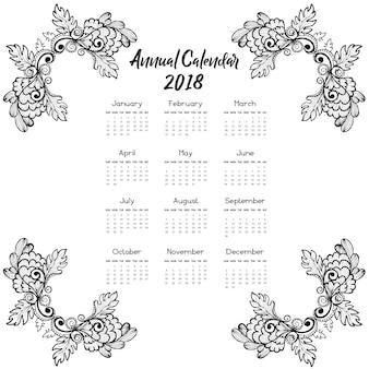 """""""Handgetekende Bloemen Kalender 2018"""""""