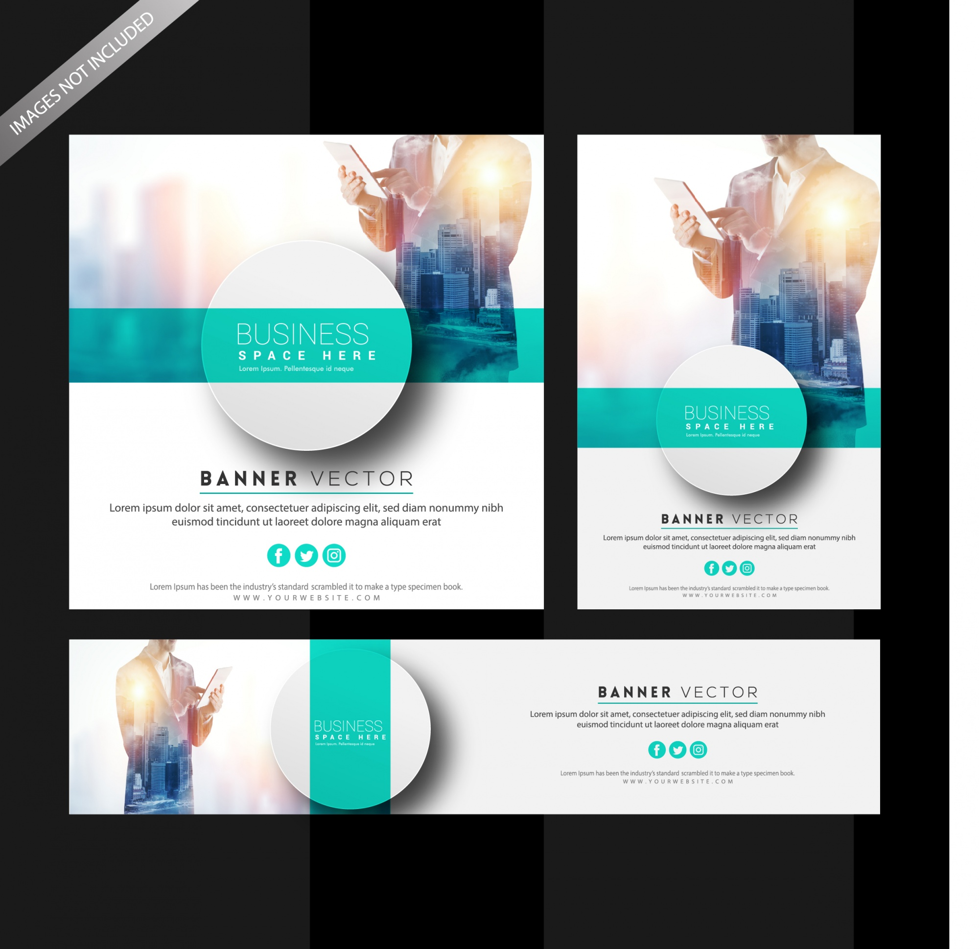 """Modern business banner set tempalte"""