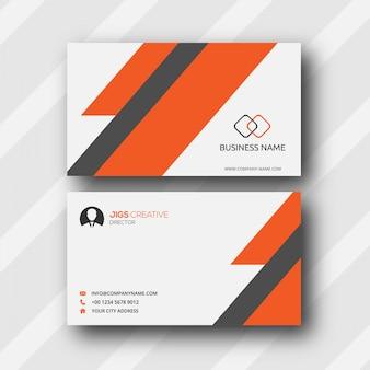 """""""Oranje en grijs streepadreskaartje"""""""