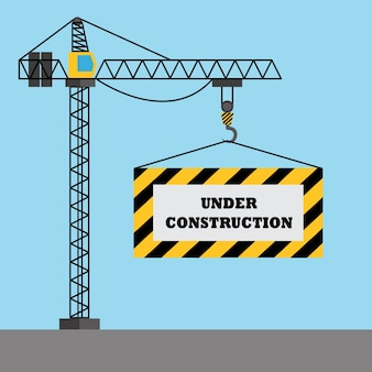"""""""Under construction"""" ontwerp als achtergrond"""