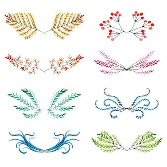 """Watercolour Floral Elements Collection"""