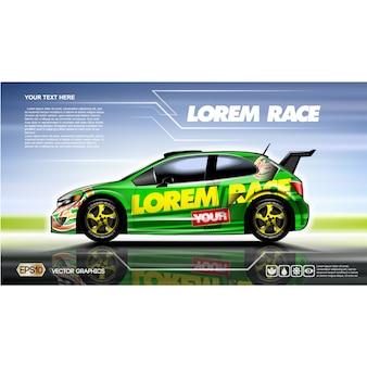 Racewagen achtergrond ontwerp