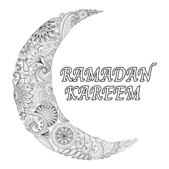 Ramadan achtergrond met etnische maan