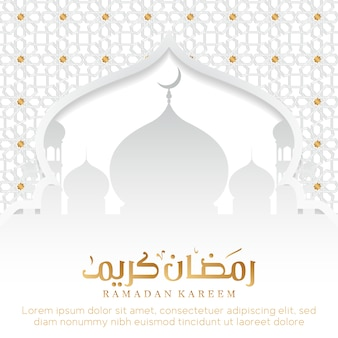 Ramadan achtergrond met moskee
