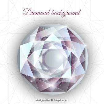 Realistische achtergrond met geometrische diamant