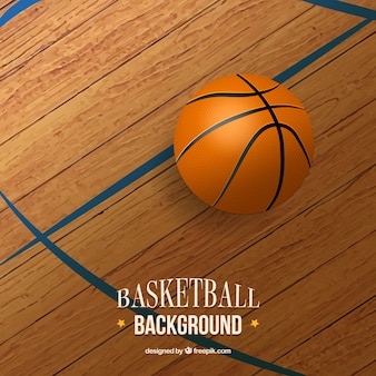 Realistische basketbal achtergrond