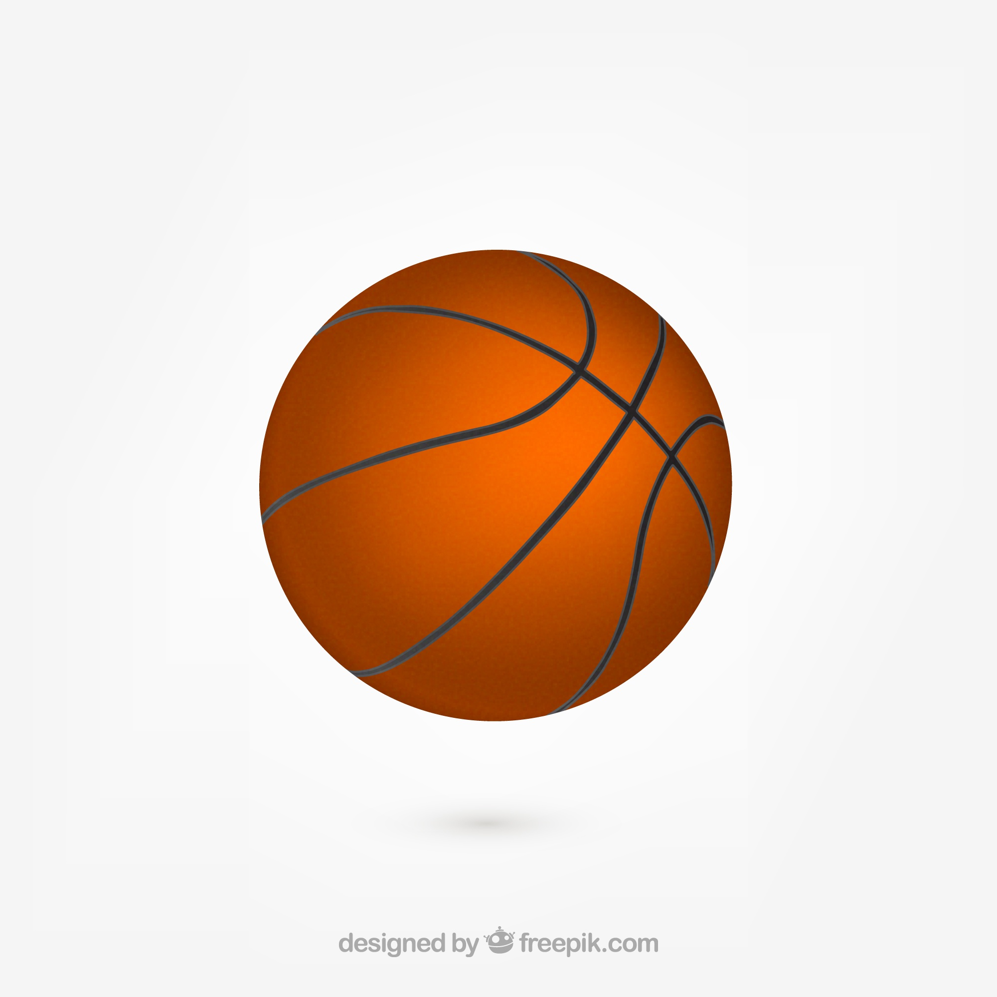 Realistische basketbal