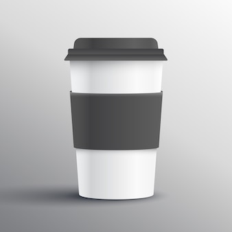 Realistische koffiemok template design object