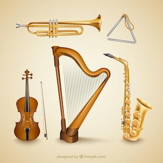 Realistische muziek instrumenten