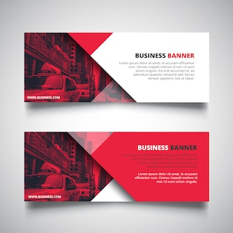Red corporate business banner