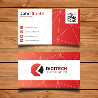 Red technologie visitekaartje