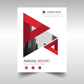Red zakelijke brochure sjabloon met geometrische vormen