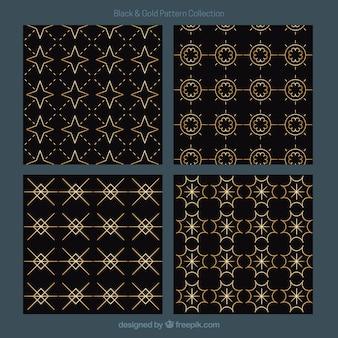 Reeks gouden geometrische patronen