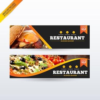 Restaurant geplaatste banners