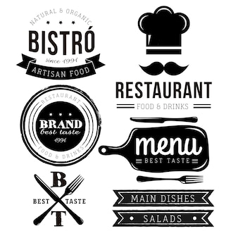 Restaurant logo collectie