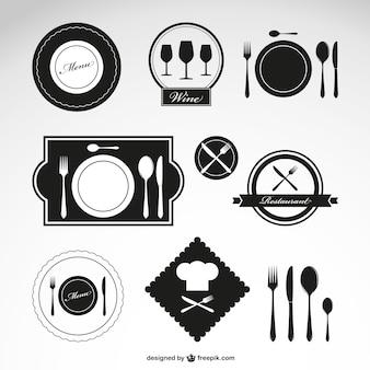 Restaurant vector symbolen set