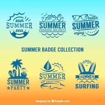 Retro badges van de zomer