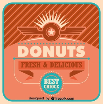 Retro donuts poster ontwerp