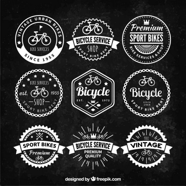 Retro fiets badges