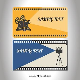 Retro film reel template