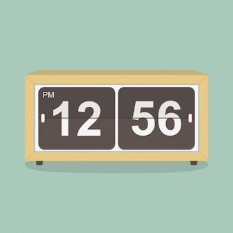 Retro klok ontwerp