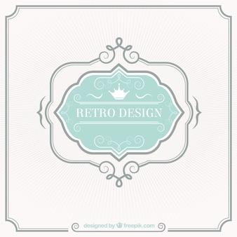 Retro-label ontwerp