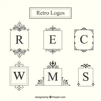 Retro logo frame collectie
