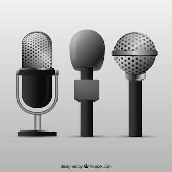 Retro microfoons