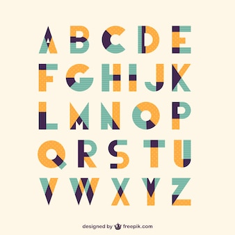 Retro soort vintage lettertype