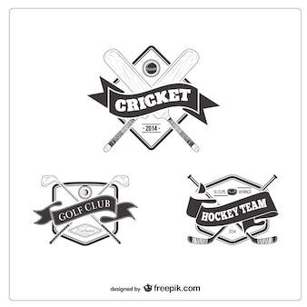 Retro sport team badges