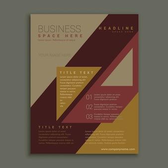 Retro stijl gedempte kleur brochure poster ontwerp sjabloon