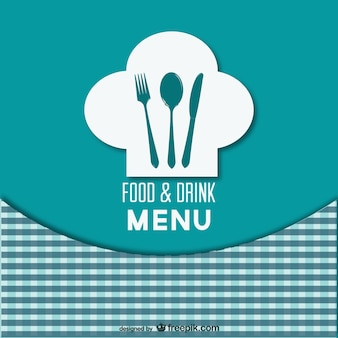 Retro-stijl restaurant menu