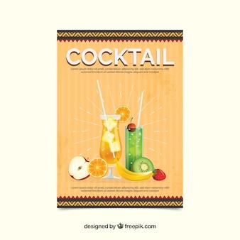 Retro uitnodiging van de cocktailpartij