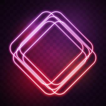 Rhombus met rode lichten