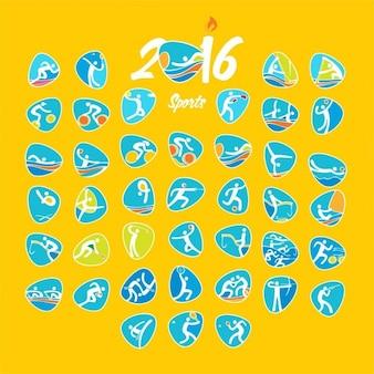 Rio de zomer Olympische spelen symbolen