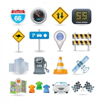 Road Icon Set