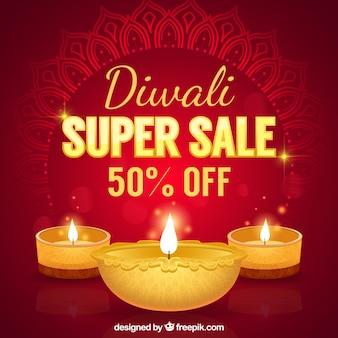 Rode achtergrond van diwali super verkoop