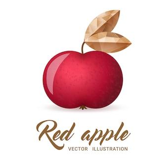 Rode appel illustratie