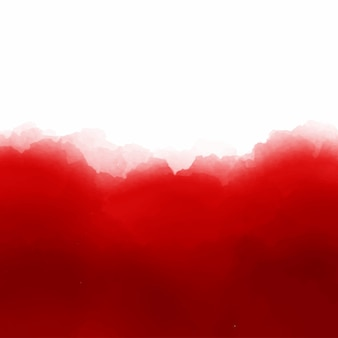 Rode aquarel achtergrond vectorector